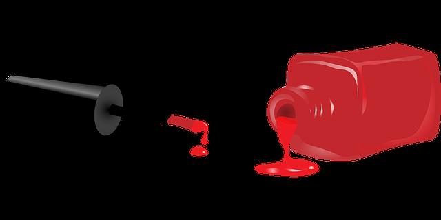 červený uv gel